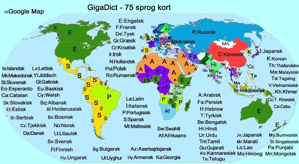 Gigadict Map Dansk